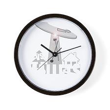 funny ufo vs mallet percussion musical  Wall Clock