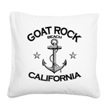 GOAT ROCK BEACH CALIFORNIA co Square Canvas Pillow