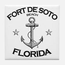 FORT DE SOTO FLORIDA copy Tile Coaster