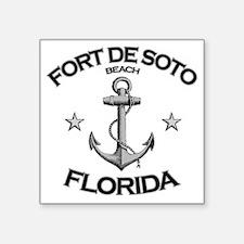 "FORT DE SOTO FLORIDA copy Square Sticker 3"" x 3"""