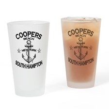 COOPERS BEACH SOUTH HAMPTON NY copy Drinking Glass