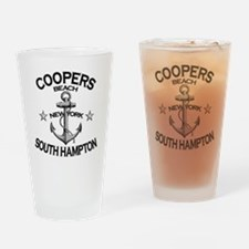 COOPERS BEACH SOUTH HAMPTON NY copy Drinking Glass