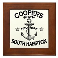 COOPERS BEACH SOUTH HAMPTON NY copy Framed Tile