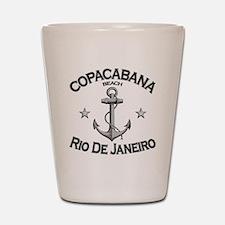 Copacabana beach rio de janeiro brazil  Shot Glass