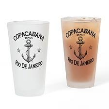 Copacabana beach rio de janeiro bra Drinking Glass