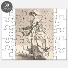 Flowers - Paul Sandby - c1759 Puzzle