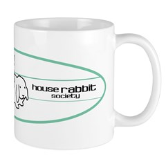 Green Surfboard Bunnies Mug