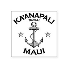 "KAANAPALI BEACH MAUI copy Square Sticker 3"" x 3"""