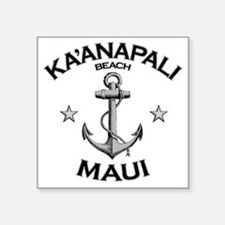 "KAANAPALI BEACH MAUI copy Square Sticker 3"" x 3"""
