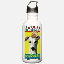 BirthdayCupcakeWhippet Water Bottle