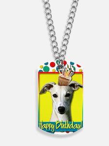 BirthdayCupcakeWhippet Dog Tags
