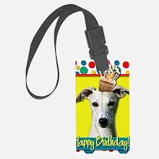 BirthdayCupcakeWhippet Luggage Tag