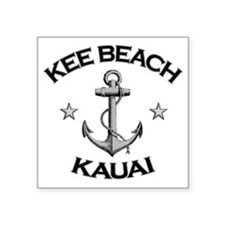 "Kee Beach Kauai copy Square Sticker 3"" x 3"""