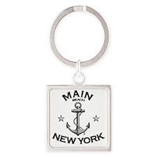 MAIN BEACH NEW YORK copy Square Keychain
