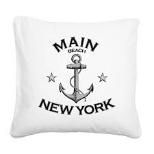 MAIN BEACH NEW YORK copy Square Canvas Pillow