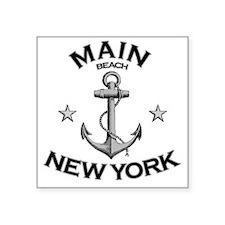 "MAIN BEACH NEW YORK copy Square Sticker 3"" x 3"""