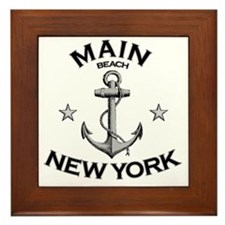 MAIN BEACH NEW YORK copy Framed Tile