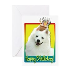 BirthdayCupcakeAmericanEskimoHB Greeting Card