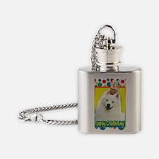 BirthdayCupcakeAmericanEskimo Flask Necklace