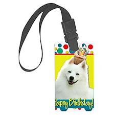 BirthdayCupcakeAmericanEskimo Luggage Tag