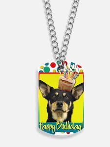 BirthdayCupcakeAustralianKelpieJude Dog Tags