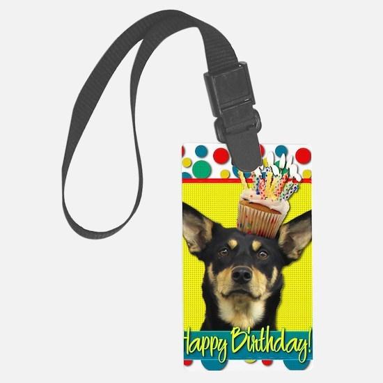 BirthdayCupcakeAustralianKelpieJ Luggage Tag