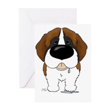 StBernard5x7 Greeting Card