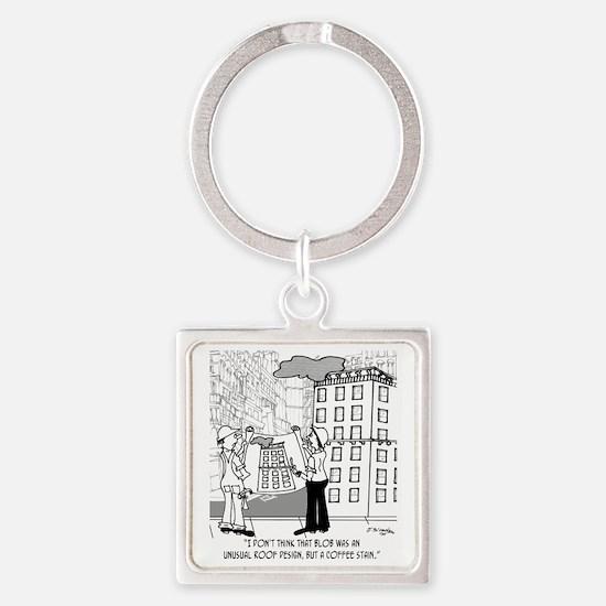 4384_blueprint_cartoon Square Keychain