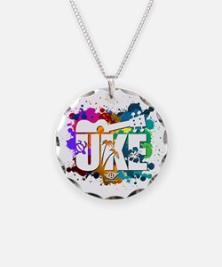 UKE Color Splash Necklace Circle Charm