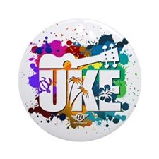 UKE Color Splash Round Ornament