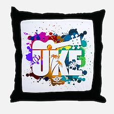 UKE Color Splash Throw Pillow