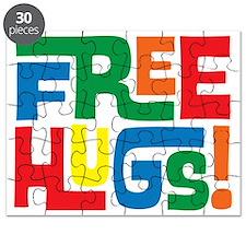 Cute Funny Free Hugs Retro Hippie Shirt Puzzle
