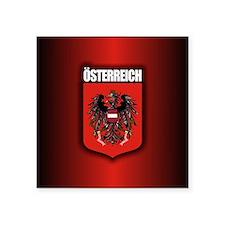 "Austrian Stl (round) Square Sticker 3"" x 3"""