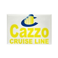 cazzo cruise line(blk) Rectangle Magnet