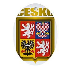 Czech Steel (shirt) Oval Ornament