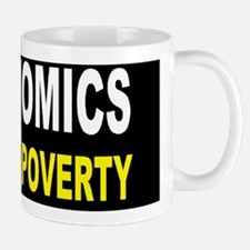 anti obama trickle up povertydbutton Small Small Mug