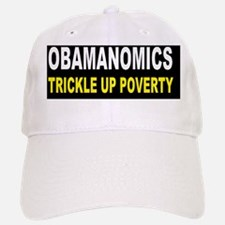 anti obama trickle up povertydbutton Baseball Baseball Cap