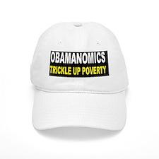 anti obama trickle up povertydbutton Baseball Cap