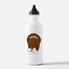 StBernardShirtBack Water Bottle