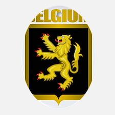 Belgian Steel (shirt) Oval Ornament