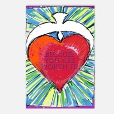 solid heartWORTHit Postcards (Package of 8)