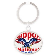 Public Radio Oval Keychain