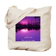 Manzanita Pink With God Rec Keychain Tote Bag