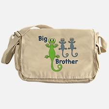 Big Brother of Twin Girls Messenger Bag