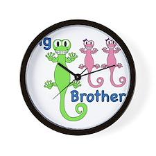 Big Brother of Twin Girls Wall Clock