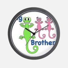 Big Brother of Twin Girls Wall Clock