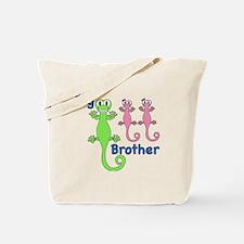 Big Brother of Twin Girls Tote Bag