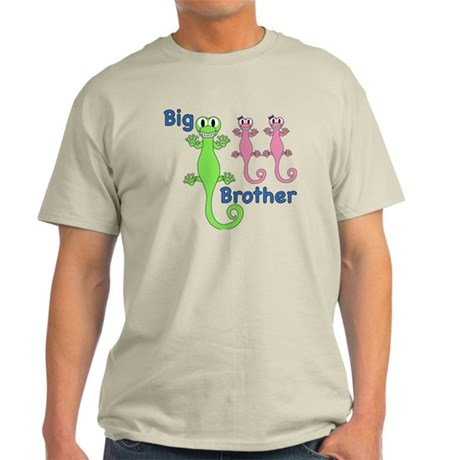 Big Brother of Twin Girls Light T-Shirt