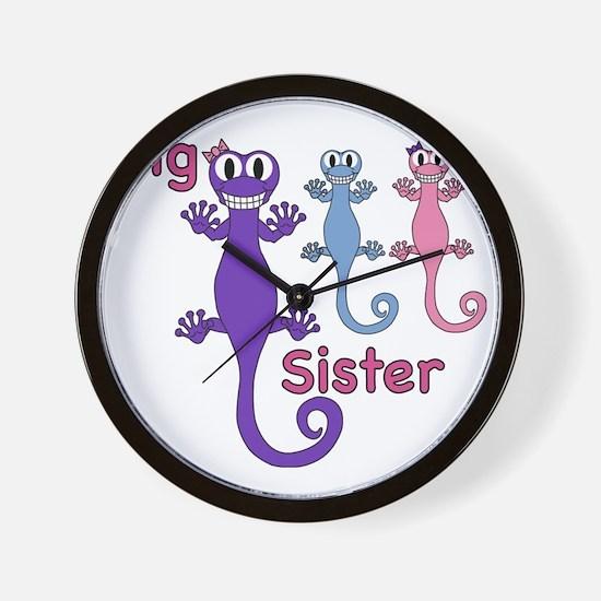 Big Sister of Boy/Girl Twins Wall Clock