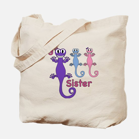Big Sister of Boy/Girl Twins Tote Bag